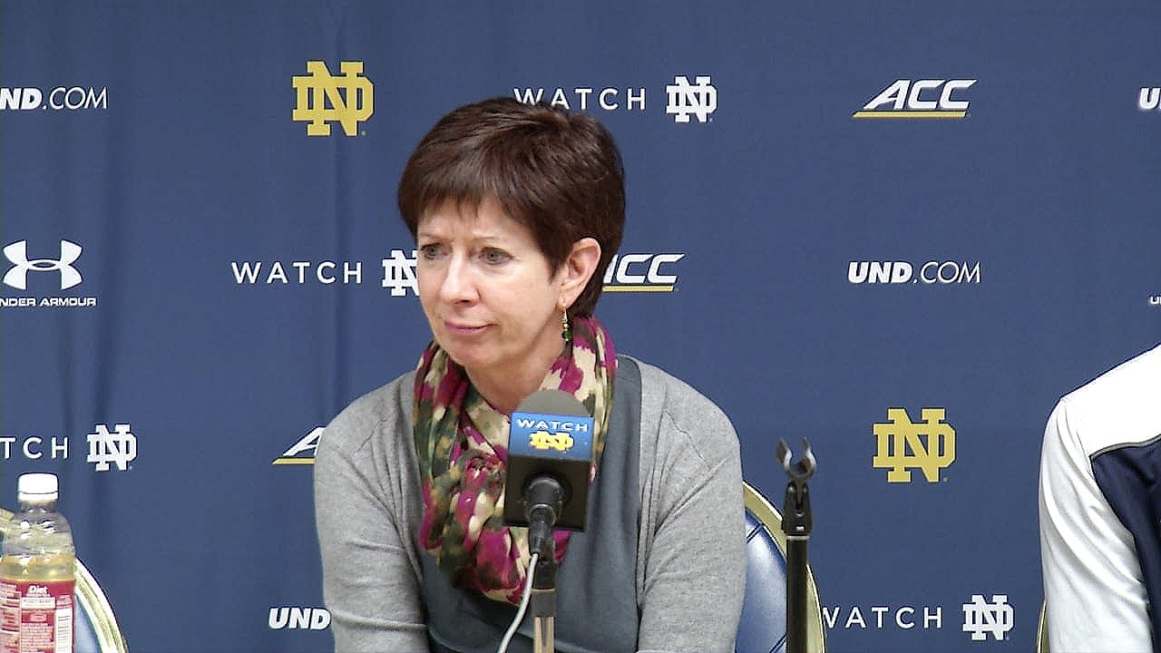 Muffet McGraw Post-Game Press Conference - Valparaiso