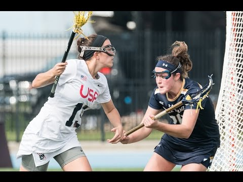 Notre Dame Women's Lacrosse Highlights vs. Team USA