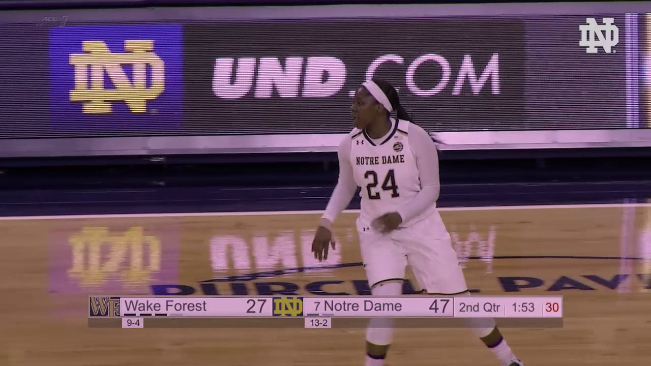 Notre Dame Women's Basketball Highlights Wake Forest