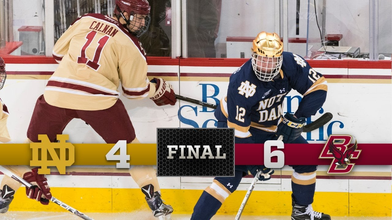Top Moments - Notre Dame Hockey vs. Boston College