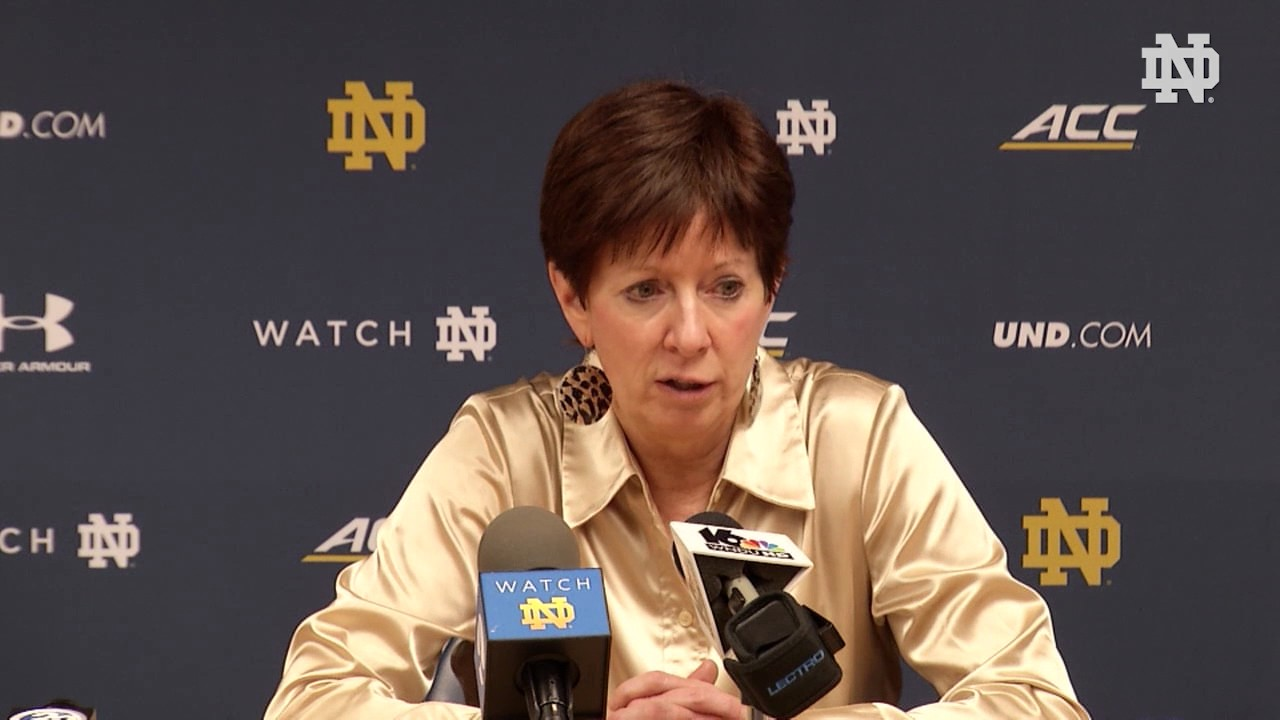 Muffet McGraw Post-Game Press Conference - Pittsburgh