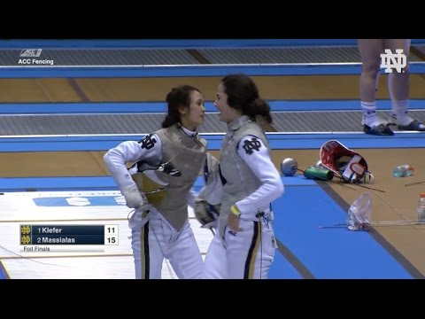 Notre Dame Women's Fencing Highlights - ACC Individual Championships