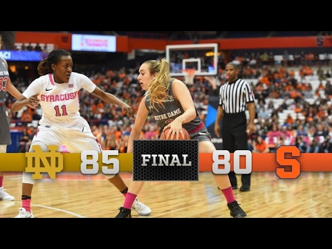 Top Moments - Notre Dame Women's Basketball vs. Syracuse