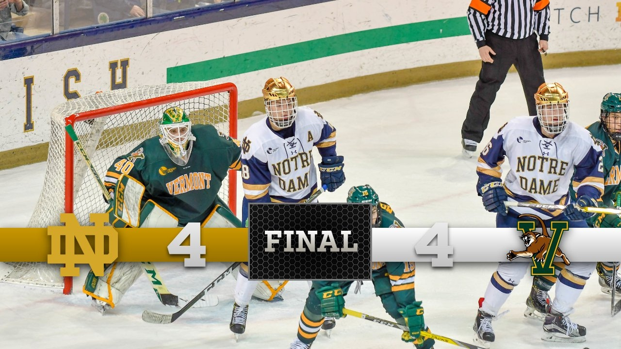 Top Moments - Notre Dame Hockey vs. Vermont