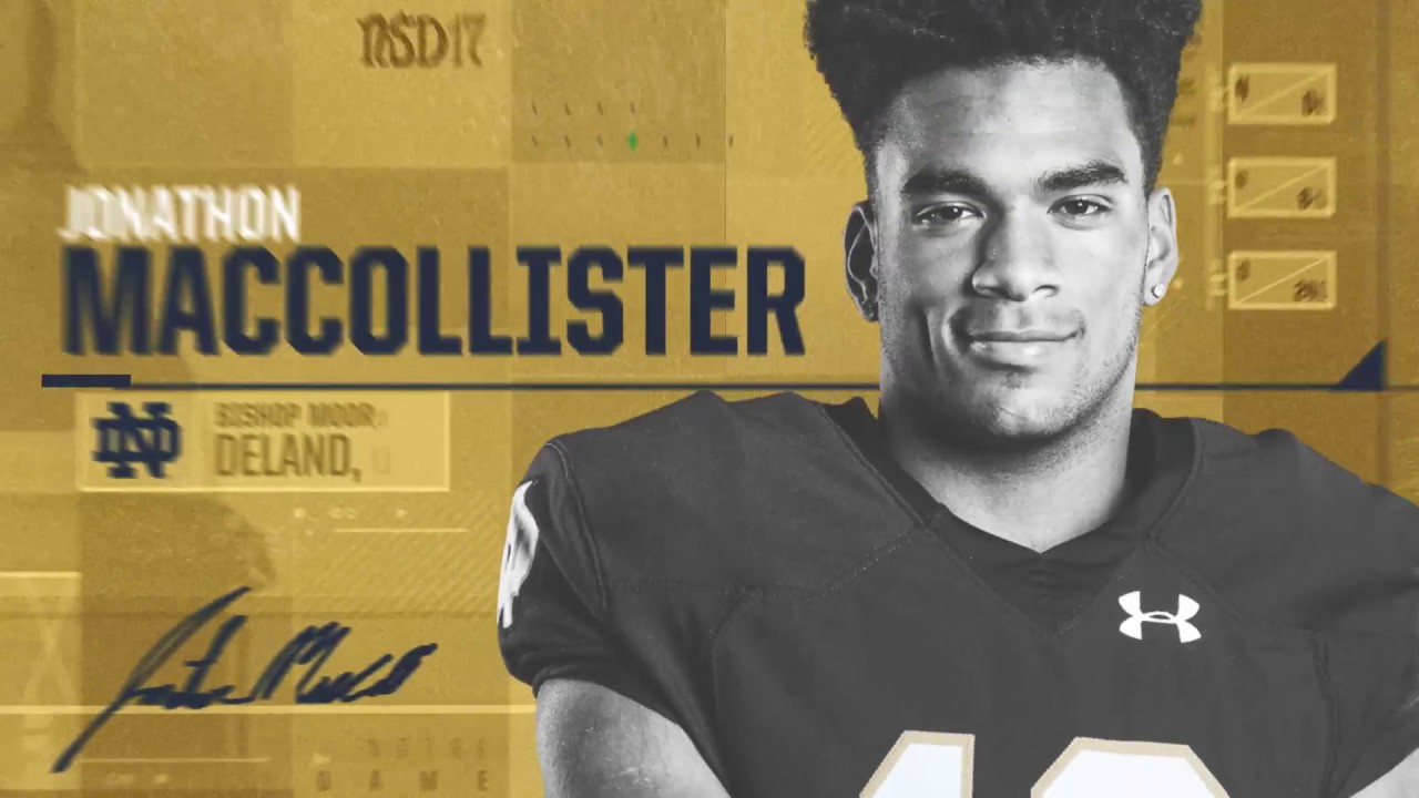 Jonathon MacCollister Highlights - Notre Dame Football - NSD17