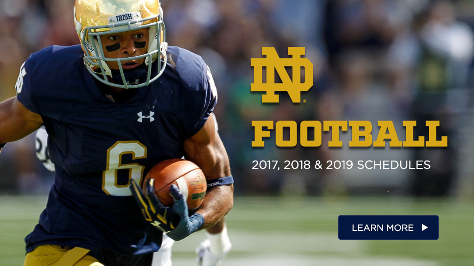 Irish Schedule Through 2019 – Notre Dame Fighting Irish