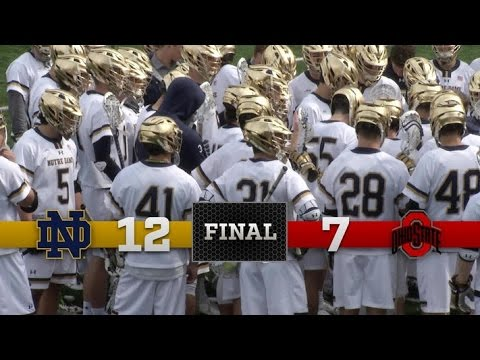Highlights - Notre Dame Men's Lacrosse vs. Ohio State