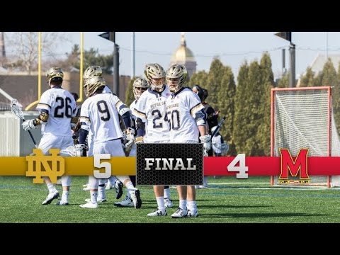 Top Moments - Notre Dame Men's Lacrosse vs. Maryland