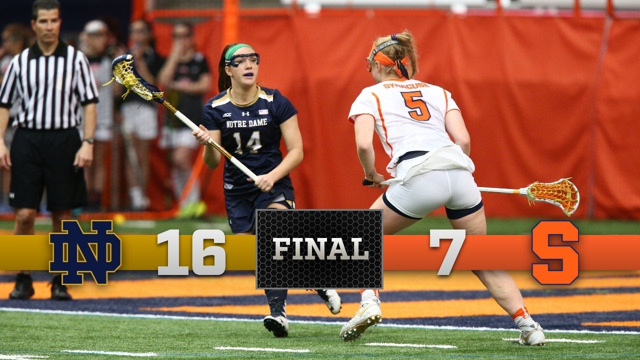 Highlights - Notre Dame Women's Lacrosse vs. Syracuse