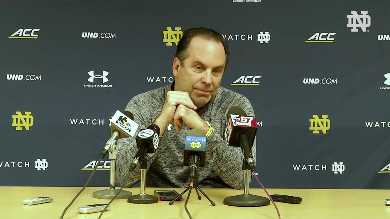 Mike Brey Press Conference - 03/12/17