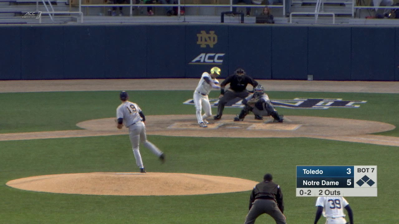 Highlights - Notre Dame Baseball vs. Toledo
