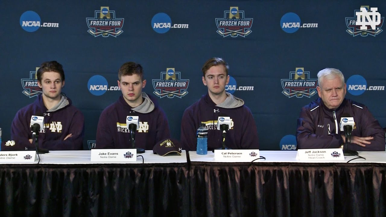 Notre Dame Hockey Frozen Four Press Conference