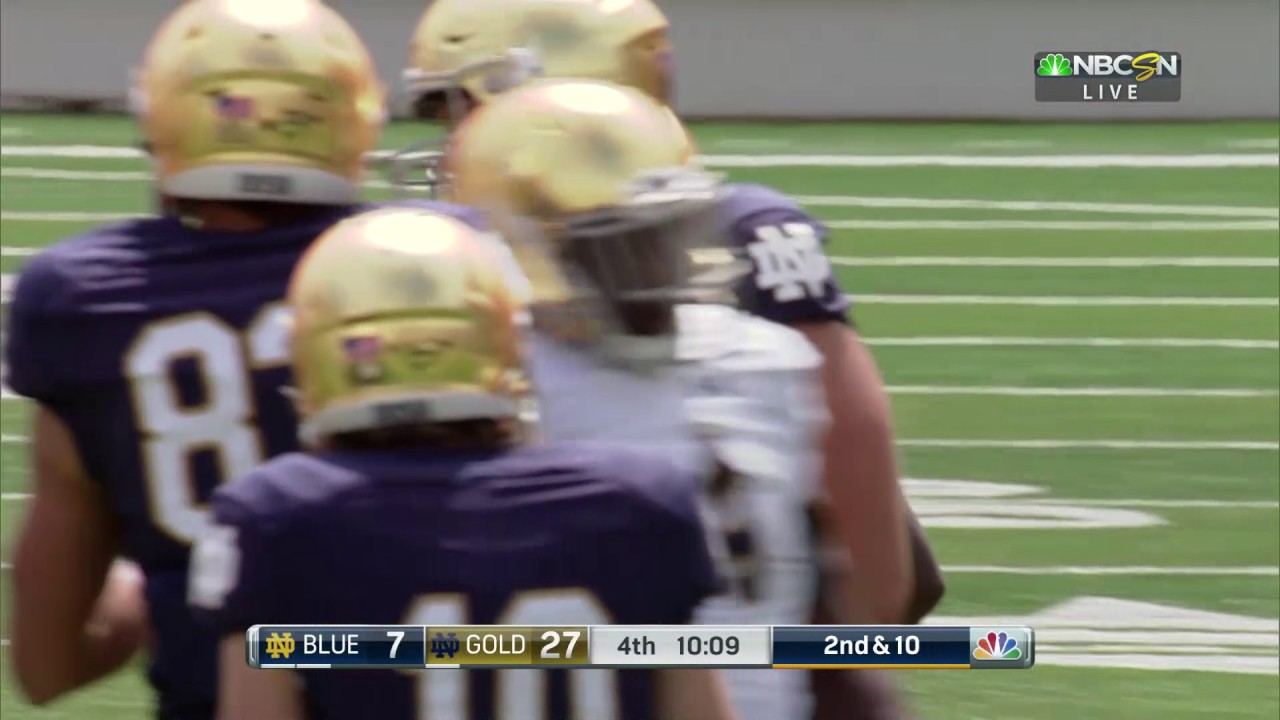 Notre Dame Football Quick Plays Jones Run April 22, 2017