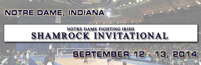 2014 Notre Dame Women's Volleyball Shamrock Invitational