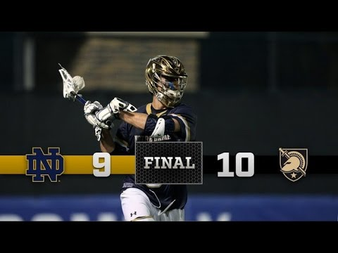 Highlights - Notre Dame Men's Lacrosse vs. Army