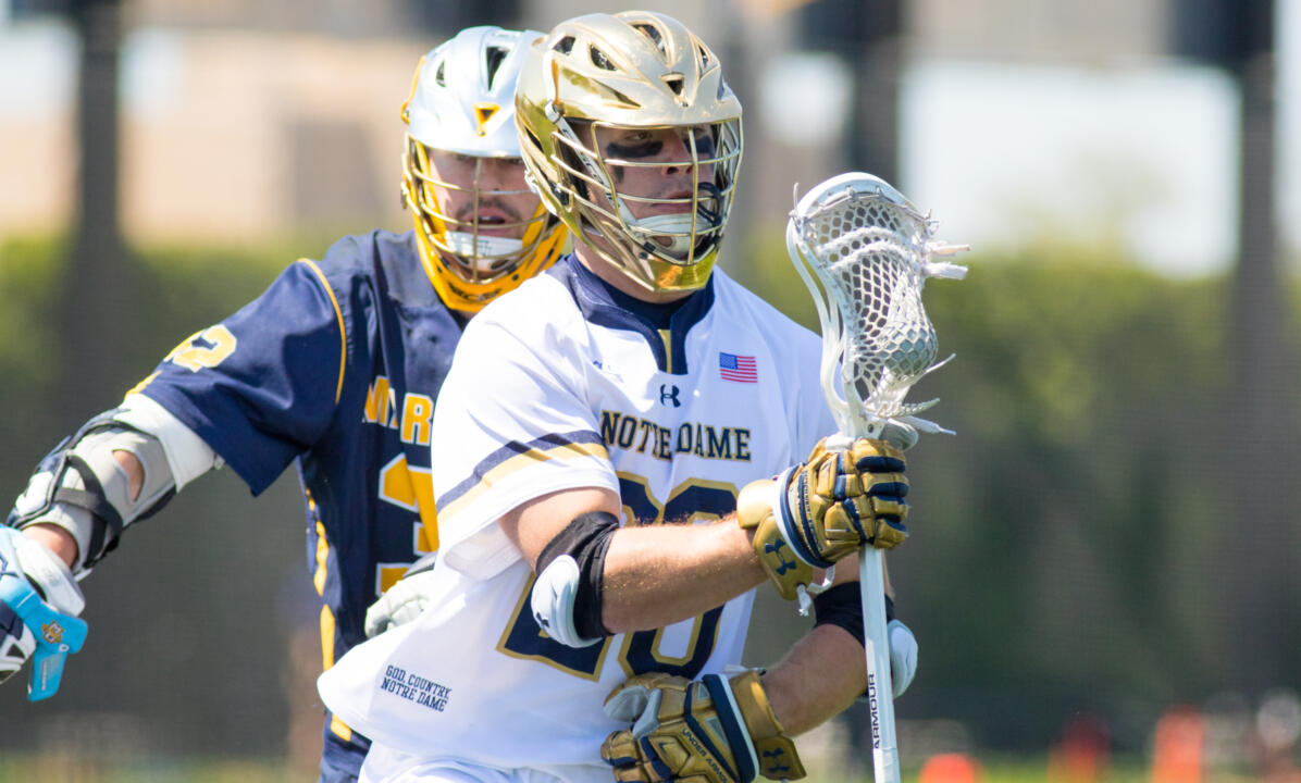 Notre Dame vs. Marquette in the NCAA Championship First Round at Arlotta Stadium on Sunday, May 14, 2017.  Drew  Schantz (20)