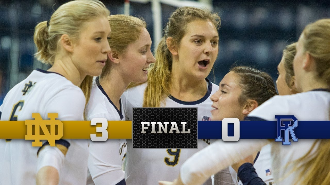 Notre Dame Volleyball Highlights vs. Rhode Island