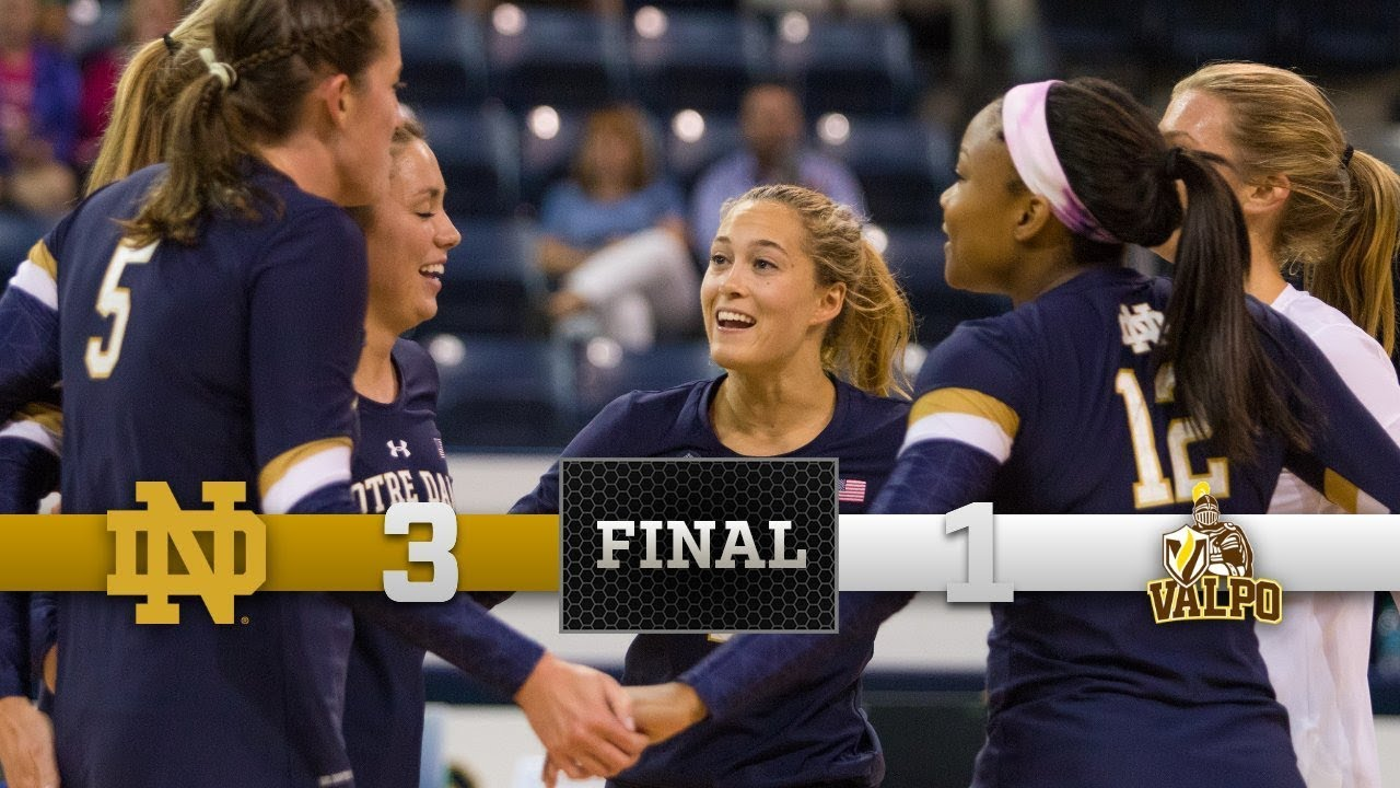 Notre Dame Volleyball Highlights vs. Valparaiso