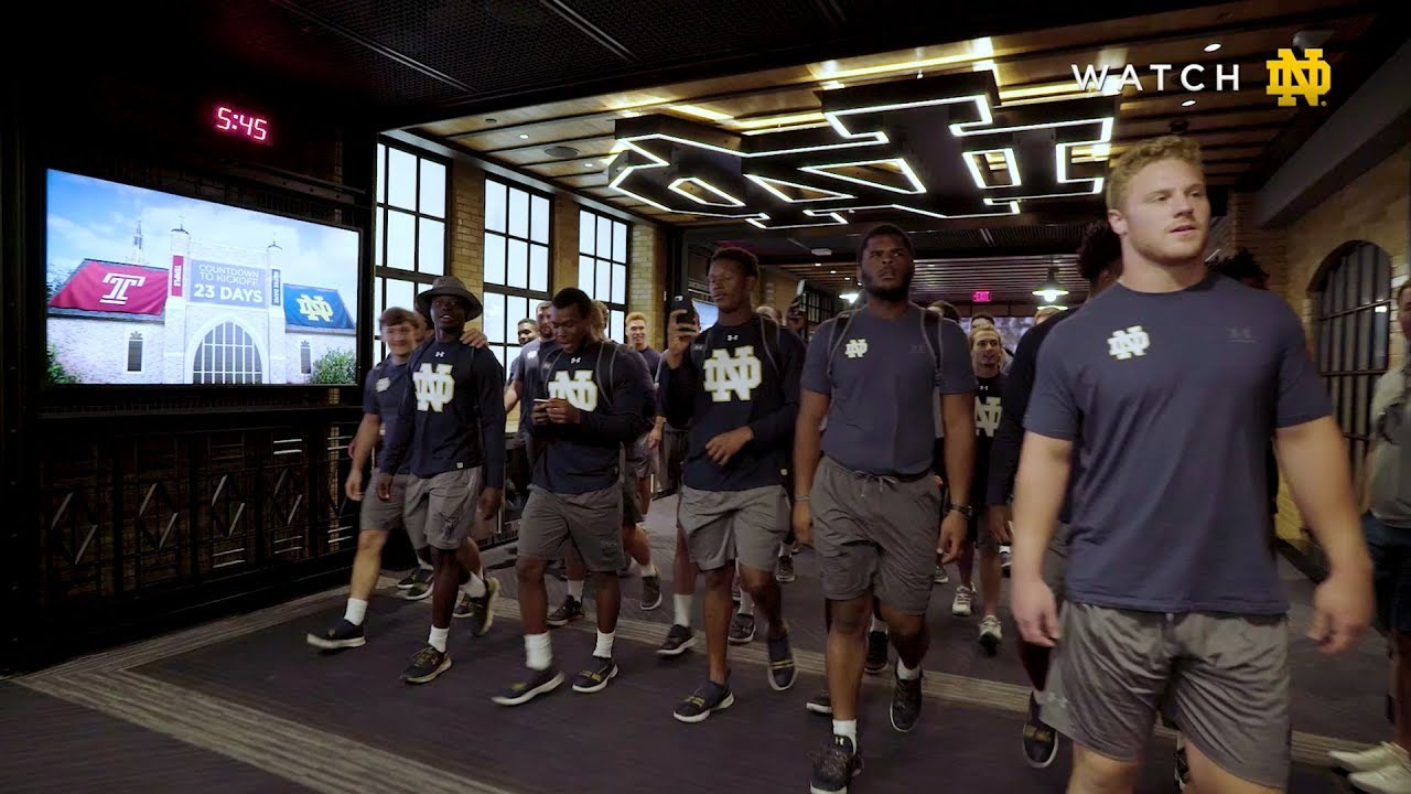 Notre Dame Football Team Locker Room Reaction