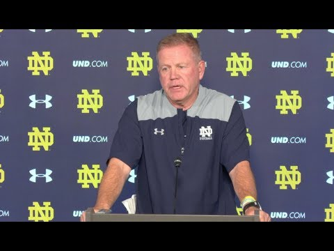 Brian Kelly Thursday Press Conference - Miami (OH)
