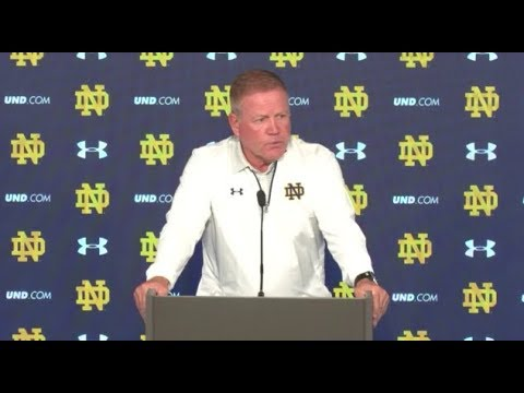 Brian Kelly Game Press Conference - Georgia