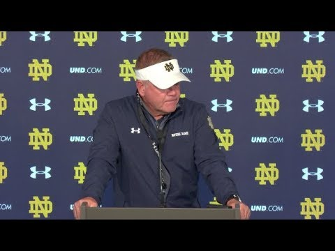 Brian Kelly Thursday Press Conference - Georgia