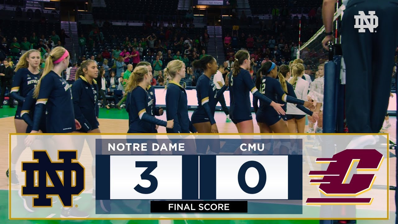 Notre Dame Volleyball Highlights vs. Central Michigan