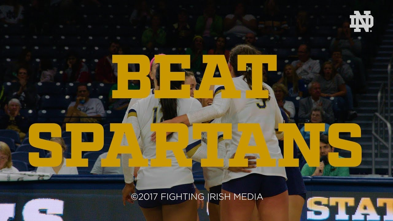 Notre Dame Volleyball - Go Irish, Beat Spartans