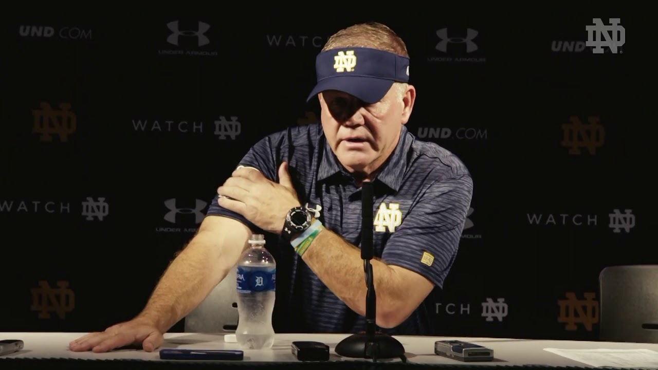 Brian Kelly Post-Game Press Conference - Michigan State