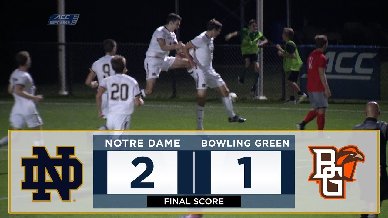 Notre Dame Men's Soccer Highlights vs. Bowling Green