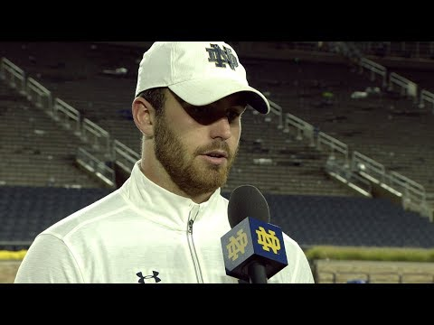 @NDFootball Durham Smythe Post-Game Interview vs. NC State (2017)