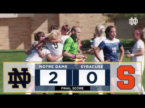 Notre Dame Women's Soccer Highlights vs. Syracuse