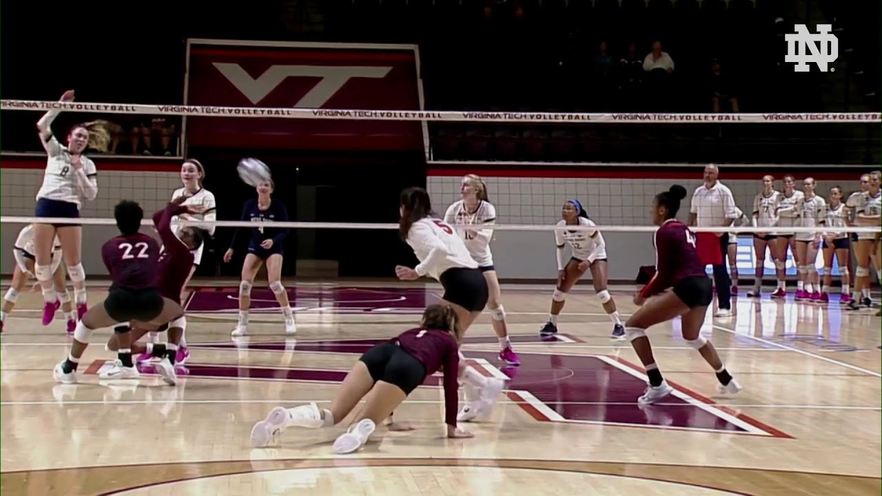 Notre Dame Volleyball Highlights vs. Virginia Tech