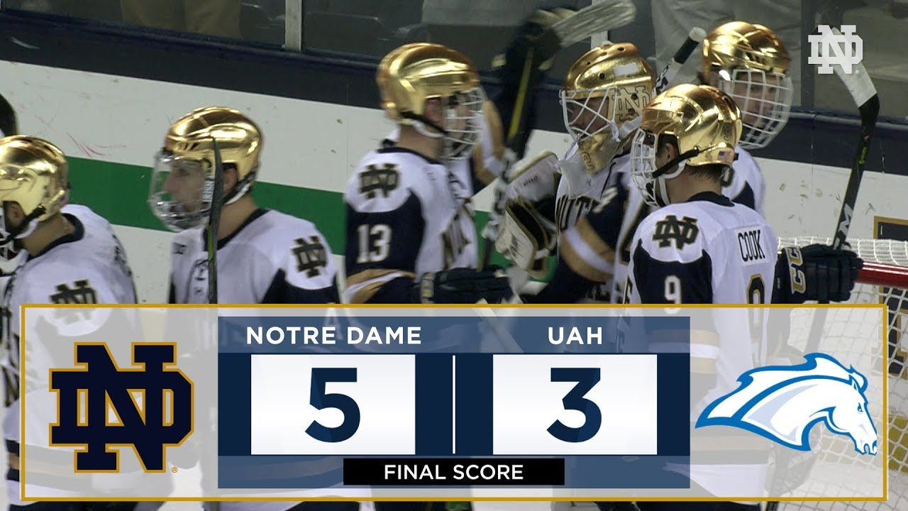 Notre Dame Hockey Highlights vs. Alabama Huntsville