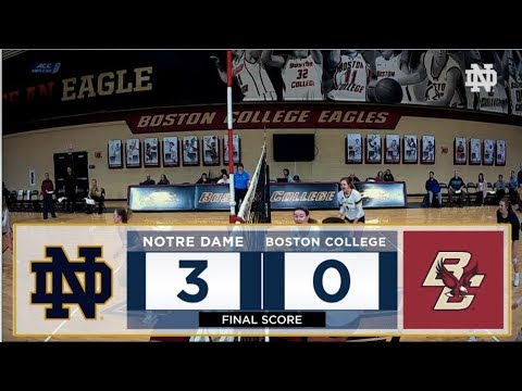 Highlights | @NDvolleyball at Boston College (2017)