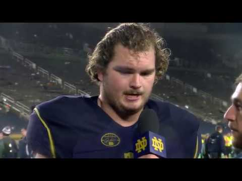@NDFootball Sam Bush - Post-Game Interview - Navy (2017)