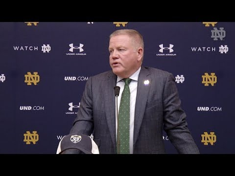@NDFootball Brian Kelly Press Conference - Wake Forest (10.31.17)