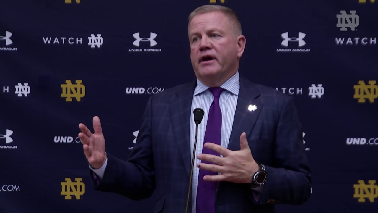 @NDFootball Brian Kelly Press Conference - Stanford (2017)