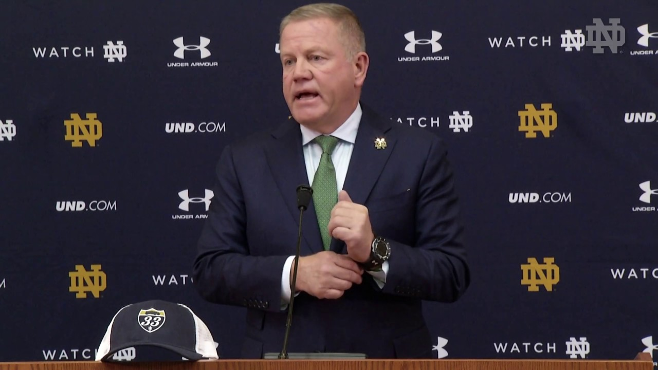 @NDFootball Brian Kelly Press Conference - Miami (2017)