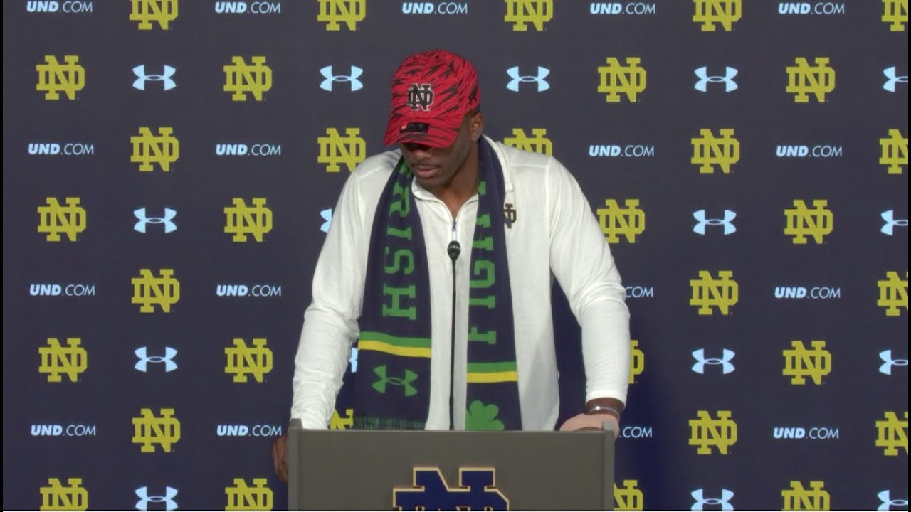 @NDFootball Brandon Wimbush Post-Game Press Conference - Wake Forest (2017)
