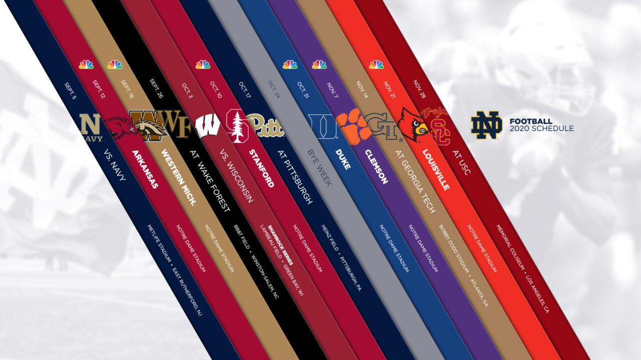 2020 Razorback Football Schedule Notre Dame Announces 2020 Football Schedule – Notre Dame Fighting