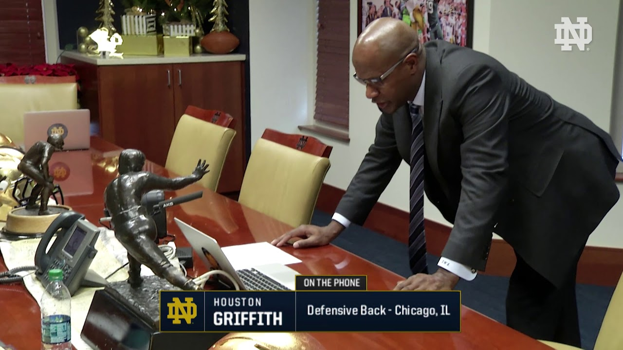 Houston Griffith  Call | @NDFootball Signing Day (12.20.17)