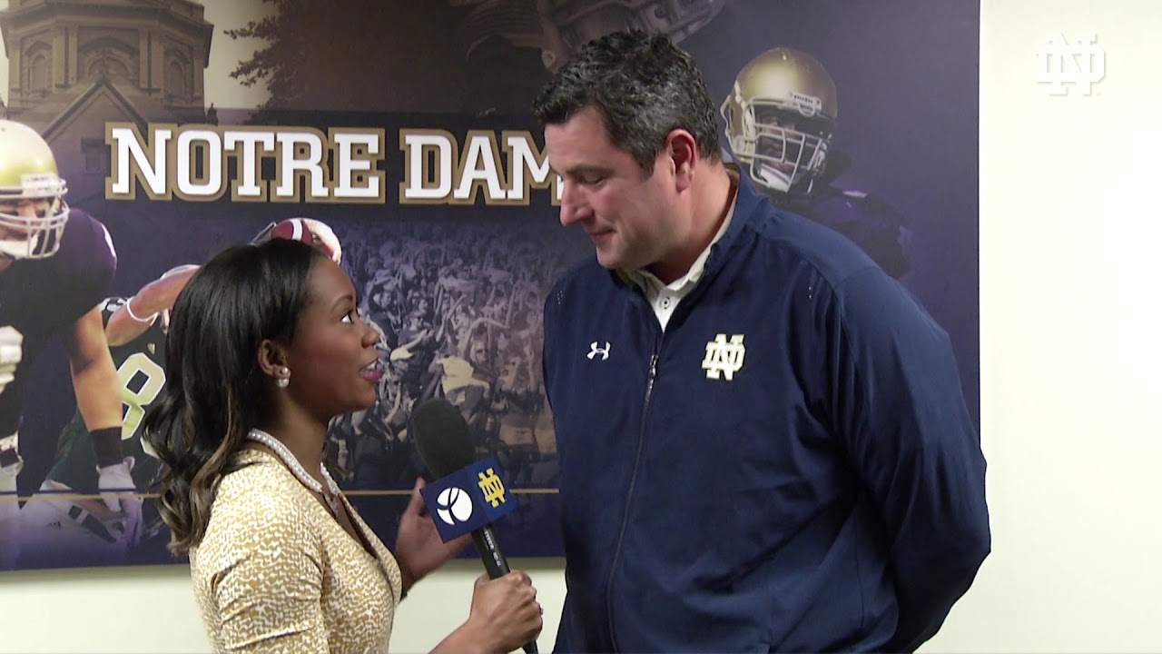 Coach Elston | @NDFootball Signing Day (12.20.17)