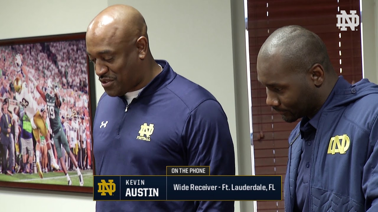 Kevin Austin Call | @NDFootball Signing Day (12.20.17)