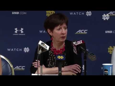 @ndwbb Muffet McGraw Post-Game Press Conference vs. Tennessee (2018)