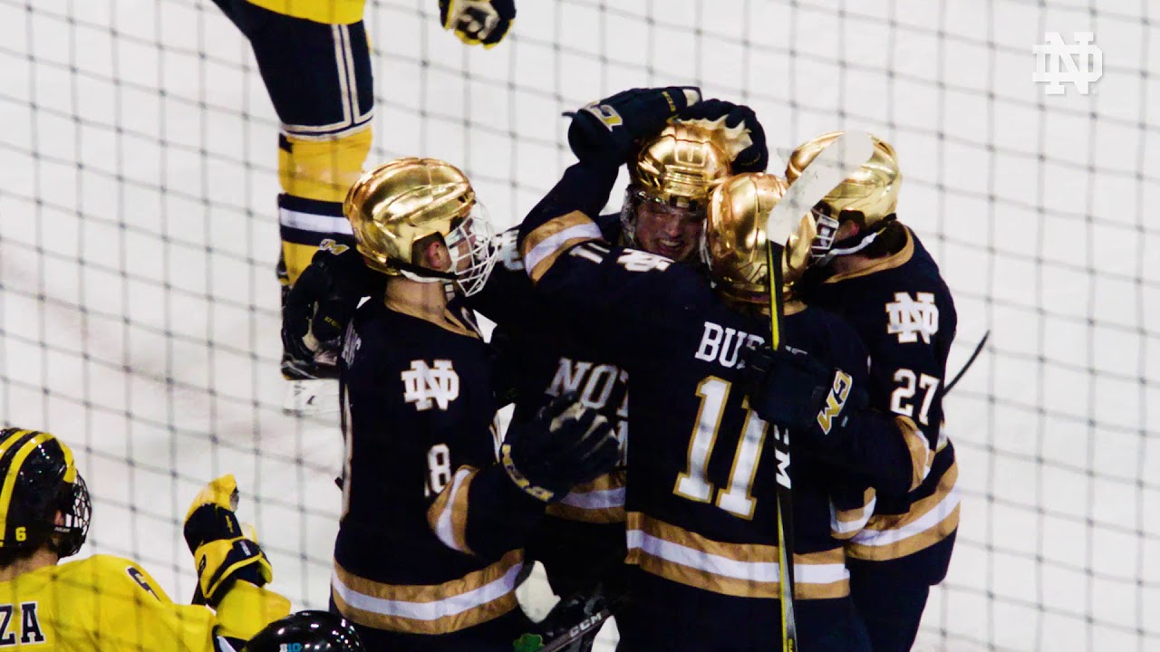 Highlights | @NDHockey vs. Michigan (2018)