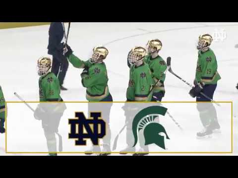 Highlights | @NDHockey vs. Michigan State, Game 2 (2018)