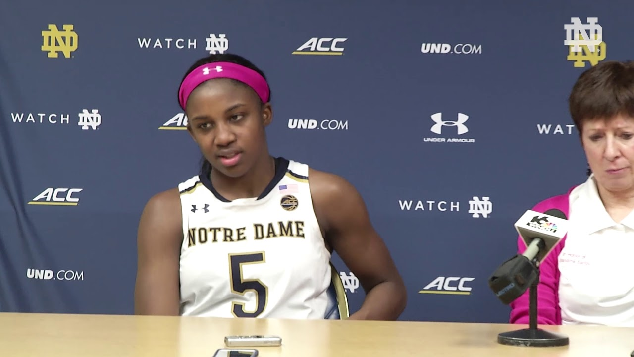 Post-Game Press Conference | @ndwbb vs. Georgia Tech (February 11, 2018)