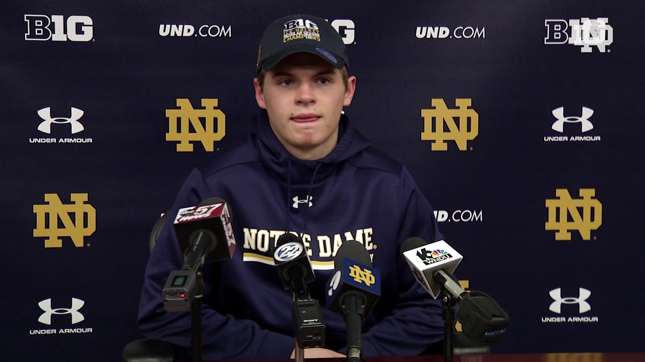 @NDHockey Jake Evans Post-Game Press Conference vs. Ohio State (February 9, 2018)