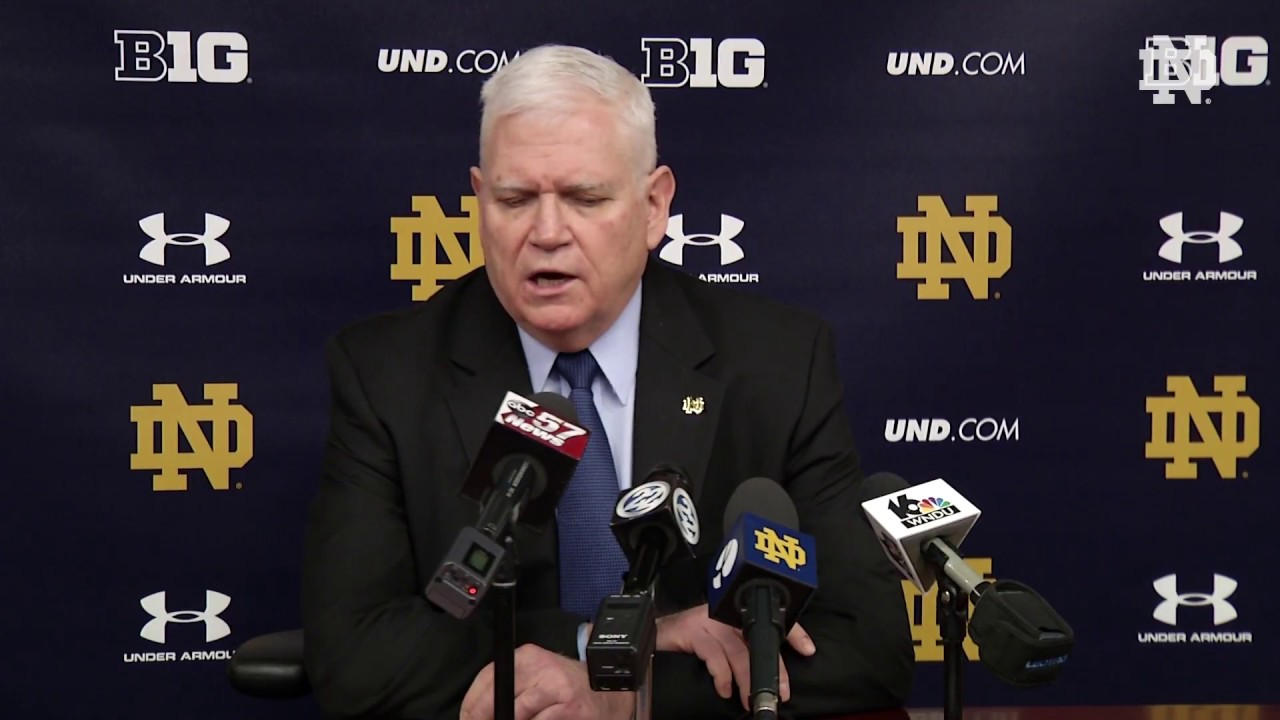 @NDHockey Jeff Jackson Post-Game Press Conference vs. Ohio State (February 9, 2018)